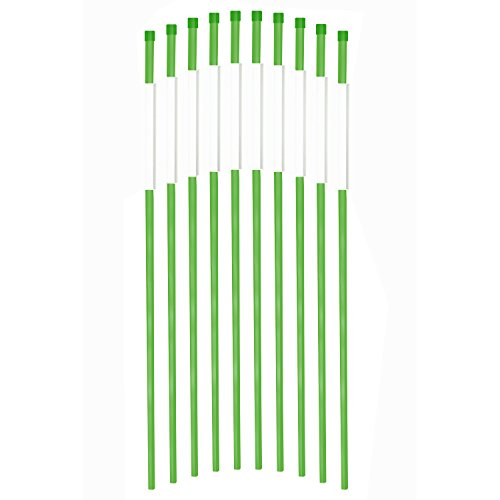 fibermarker 91,4cm Reflektierende Auffahrt Marker Auffahrt Stangen für einfache Sichtbarkeit bei Nacht 5/40,6cm Durchmesser grün 50Stück -