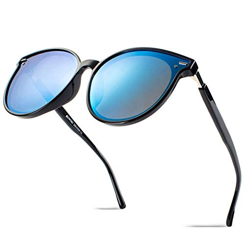 BOYOU Retro Vintage Sonnenbrille Mirrored Ultra Thin Ultra Light Metal