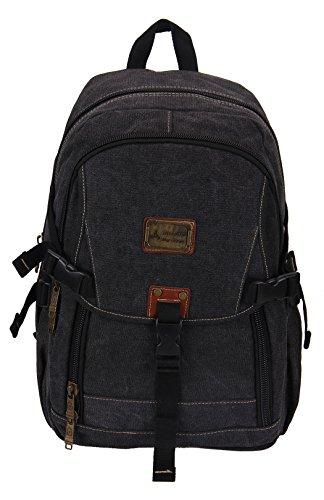 kingwang-college-backpack-vintage-unisex-school-student-canvas-backpack-black