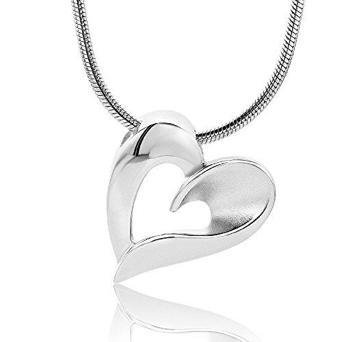 Herzkette Rosegold vergoldet Kette Damen Halskette Rose Zirkonia Stein  Damenkette ❤ Geschenk Etui mit Gravur 74215ac120