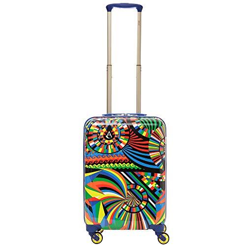 Aerolite Leichtgewicht Polykarbonat Hartschale 4 Rollen Reisegepäck Trolley Koffer Handgepäck Kabinentrolley, Genehmigt für Ryanair, easyJet, Lufthansa, Jet2, Eurowings und viele mehr, Karneval - 2