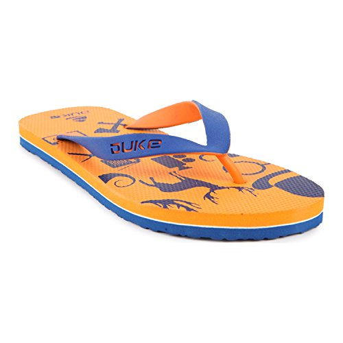Duke Men's Orange & Blue Coloured Eva Slippers 9  available at amazon for Rs.250