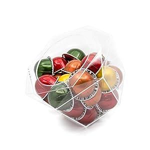 Capsule porta capsule Nespresso Vertuoline Hexagon plexiglass, trasparente, dispenser salvaspazio per macchine Nespresso…