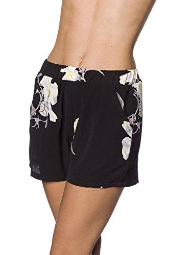 Flower Power Shorts Schwarz/Beige