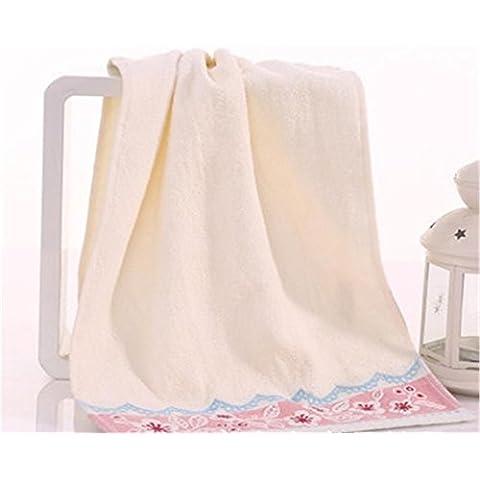 Ultra morbido cotone Extra assorbente asciugamani Jacquard o regalo creativo asciugamani 33 * 74cm , pink
