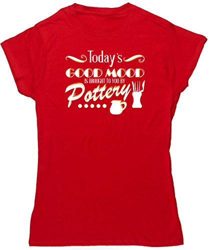 hippowarehouse-todays-good-mood-is-brought-to-you-by-pottery-womens-fitted-short-sleeve-t-shirt