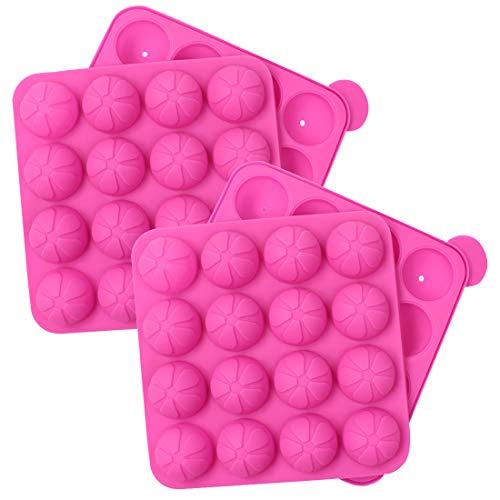 Tosnail Silikon-Form für Cupcakes, 16 Mulden, ideal für harte Süßigkeiten, Lutscher und Partys