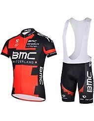 Deportes al aire libre para hombre transpirable ciclismo manga corta Jersey moto chaqueta de manga larga camisa de la bicicleta ciclo CULOTE medias, hombre, color bib suit 1, tamaño mediano