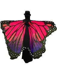 Bufanda mujer Sannysis Estolas Alas de mariposa 197 X 125CM (Rosa Caliente)