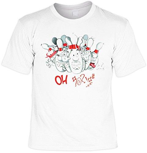 Kegel Shirt /T-Shirt/Baumwoll-Shirt lässiger Aufdruck: OH #!@!#$ Must Have - cooles Motiv Weiß