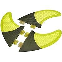 Lixada 3ST Surfing Fins/Surfboard Thruster Surf Fins Mit Bemerkenswerter Elastizität, Material: Kohlefaser + Fiberglas