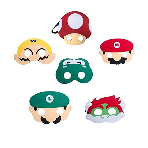 Super Mario Passt - thematys Super Mario Masken Maske 6er