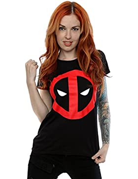 Marvel Mujer Deadpool Clean Logo Camiseta