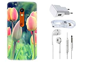 Spygen Motorola Moto X Play Case Combo of Premium Quality Designer Printed 3D Lightweight Slim Matte Finish Hard Case Back Cover + Charger Adapter + High Speed Data Cable + Premium Quality Handfree