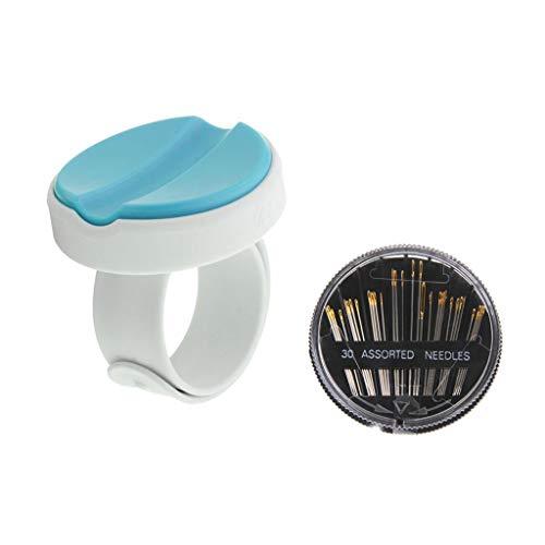 D DOLITY 30 Stücke Hand Nähnadeln Set und Magnetische Handgelenk Pin Halter Für Handmade (Pin Handgelenk Halterung)
