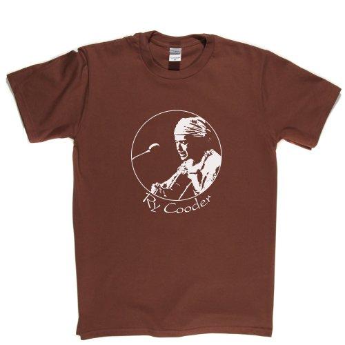 Ry Cooder Ryland American Musician Slide Guitar Roots Music T-shirt Braun