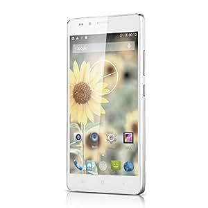 """5"""" OCTA-CORE SMARTPHONE DÉBLOQUÉ LANDVO L500 3G ANDROID 4.4 1.4GHZ MTK6592 1GO + 8 GO DOUBLE CAMÉRA 8.0MP & 2.0MP SUPPORT 2G/3G, GPS POUR ORANGE, SFR, BOUYGUES - BLANC"""