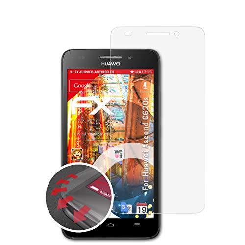 atFolix Schutzfolie passend für Huawei Ascend G620s Folie, entspiegelnde & Flexible FX Bildschirmschutzfolie (3X)