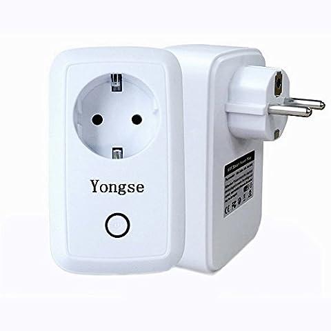 Yongse Smart Prise de courant avec App Contrôle pour iOS et Android Blanc
