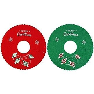 Everpertuk Falda de Árbol de Navidad, Pie de Árbol de Navidad con Borde de Volantes, Decoración de Año Nuevo
