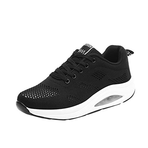 Zapatos Mujer,Mujeres Casual Deporte Moda Caminar Pisos Altura Aumento cuñas Swing Zapato 39 EU, D...