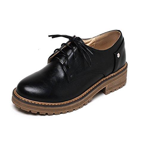 Pour Kaloosh Ville de Femme Lacets Noir à Chaussures XrAqX