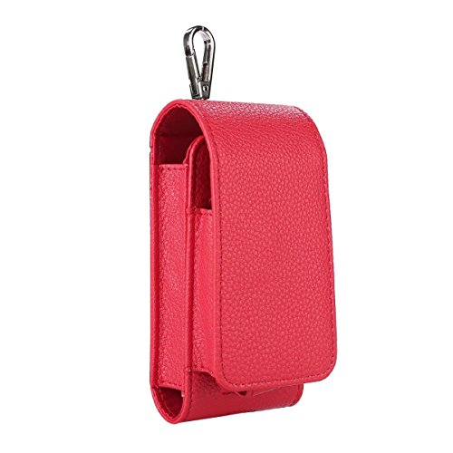Iqos custodia in pelle PU antigraffio copertura Iqos di tasca ricarica schermo per sigaretta elettronica Iqos protettiva flip cover Red