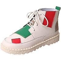 ☺Damen Sneakers Sportschuhe Laufschuhe Plateauschuhe Turnschuhe Fashion Frauen Schnürstiefel Schuhe Atmungsaktives Leichte Schuhe Trainer Freizeitschuhe Fitnessschuhe Bequeme Flache Stiefeletten