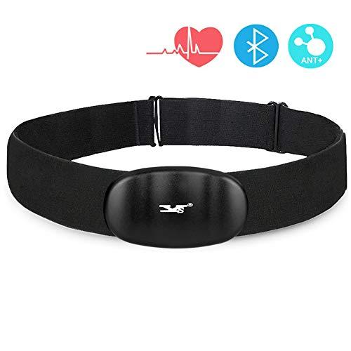 DINOKA Smart Cardio Bluetooth 4.0 und Ant + kabellos Herzfrequenz Monitor mit weichen Brustgurt für iPhone und Android (Type 1)
