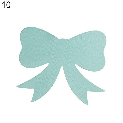 Saniswink Holz-Weihnachtsgeschenk, Dekoration, Kleiderhaken, Kreuz, Herz, Schleife, Wanddekoration, Kinderzimmer-Aufhänger Heart* grün (Kinderzimmer Grüne Kleiderhaken)