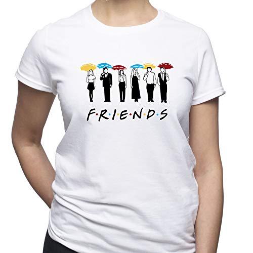 EUGINE DREAM Friends Umbrellas Friends TV Series Damen T-Shirt Weiß S
