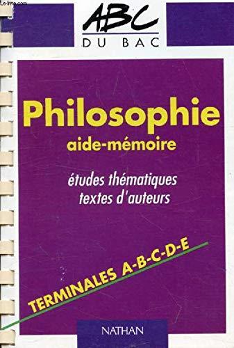 Nouvel Abrégé De Philosophie - Classes Terminales : A, B, C, D, E.