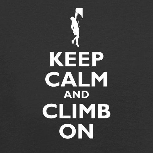 Keep Calm and Climb On - Herren T-Shirt - 13 Farben Schwarz