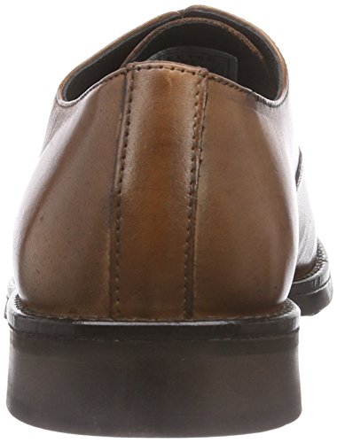 Scarpe In Pelle Shdmarc Selezionate Uomo Oxford Stringate Marrone (cognac)