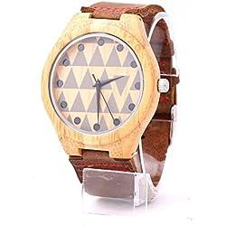 mercimall® Hohe Qualität Herren Casual täglichen Wear Original Getreide aus recyceltem Holz Quarz Analog Handgelenk Uhren