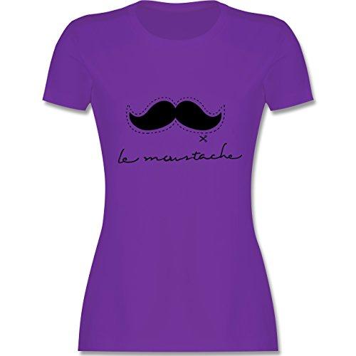 Hipster - le moustache - tailliertes Premium T-Shirt mit Rundhalsausschnitt für Damen Lila