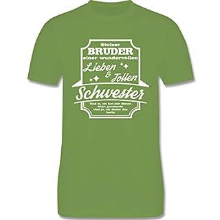 Bruder & Onkel - Stolzer Bruder Einer Schwester - L - Hellgrün - L190 - Herren T-Shirt Rundhals