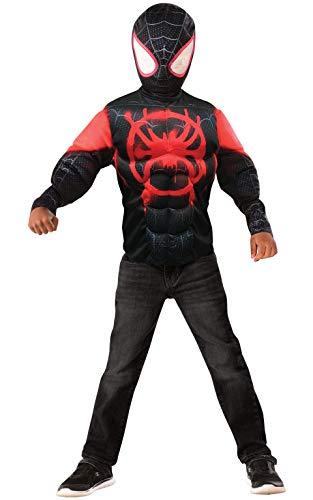 Disney Spider-Man Spider-Verse Filmkostüm, Miles Morales Deluxe-Kostüm Alter 4-6 Jahre ()