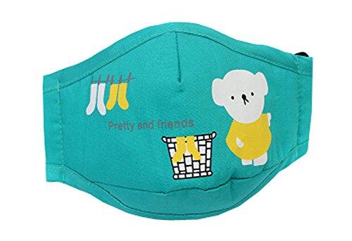 joli Le masque pour enfants pour l'anti-smog, vert(19.5*12 cm)