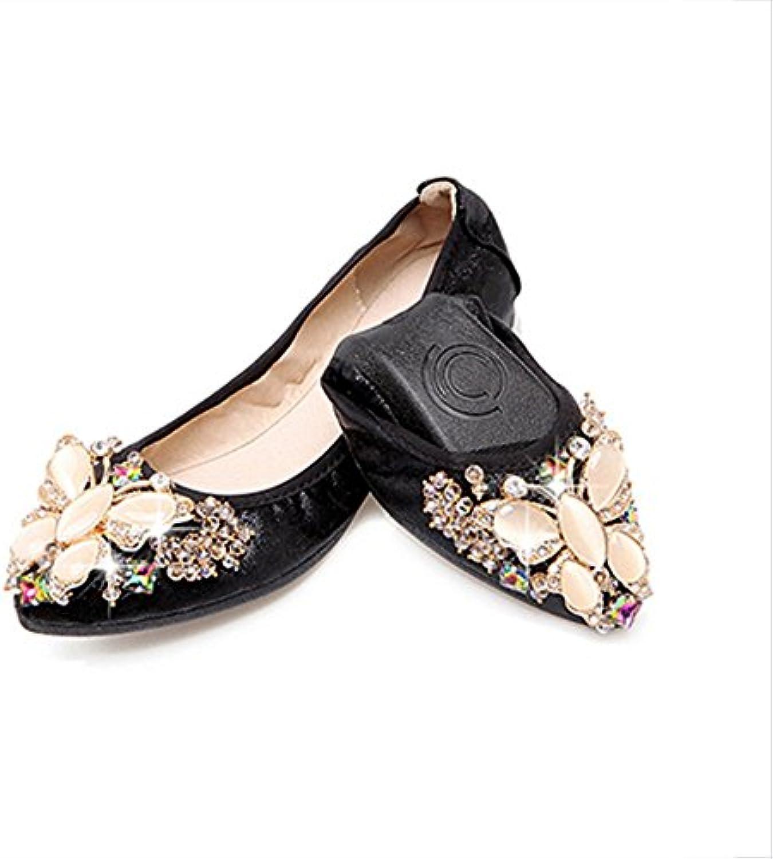 ZHANGRONG- Scarpe da Donna Scarpe da Sposa Fold Up Up Up Ballet (Coloreee   C, Dimensioni   EU39 UK6 CN39) | Costi medi  c4e049