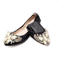 ZHANGRONG-- Las mujeres pisos zapatos de novia doblan bombas planas de ballet ( Color : C , Tamaño : EU39/UK6/CN39 )
