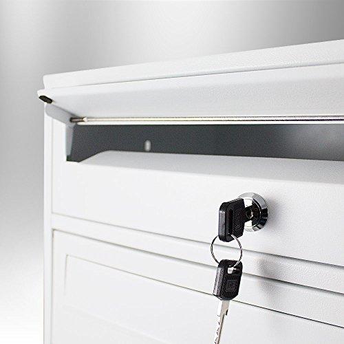 BITUXX® Stand-Briefkastenanlage Postkasten Letterbox Mailbox Doppelt mit 10 Fächer Weiß - 4