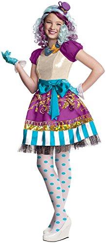 Super-Luxus-Verkleidung Madeline Hatter Ever After High für Mädchen 110/116 (5-6 (Hatter Madeline Kind Kostüme)