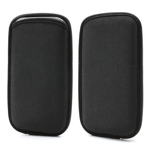 DFV mobile - Wasserabweisende Tasche Neopren aus Flexiblem Dehnbaren Weichen Exklusiv und Premium für=> RUGGEAR RG850 > Schwarz