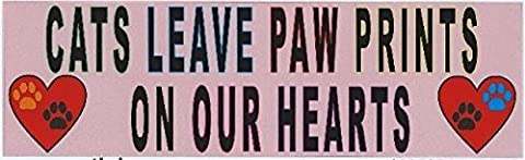 stickertalk. COM mb-50–24 25,4 x 7,6 cm (254 76 mm) Cats leave