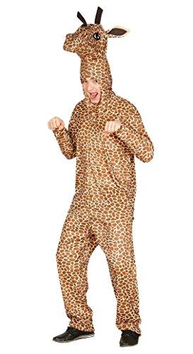 Giraffe Kostüm komplett mit Kapuze Maßnahmen Erwachsene