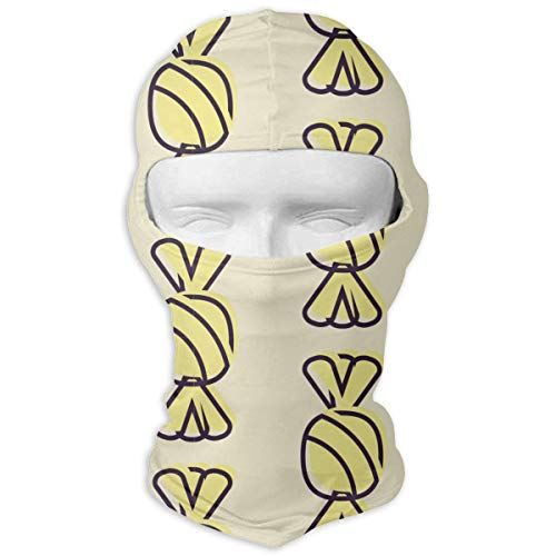 Jxrodekz Balaclava Halloween Candy Yellow Motorcycle Face Masks Windproof Ski Mask Sports Balaclava
