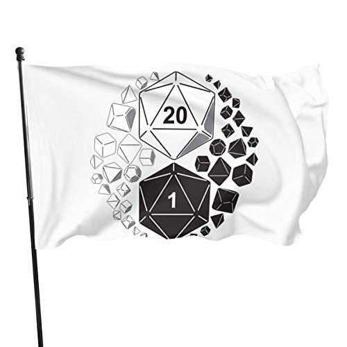 Dungeon Dekorationen - Paoseven Garten-Flagge, Dungeons und Drachen Yin