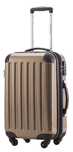 HAUPTSTADTKOFFER 42 Liter Handgepäck · Boardcase · (55 x 35 x 20 cm) · Hochglanz · TSA Schloss · CHAMPAGNER
