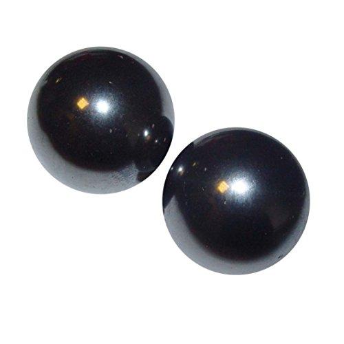 1 Paar Magnete in Kugel Form aus magnetisiertem Hämatit (Blutstein) auch singende Steine genannt Größe 24 mm Ø (4831)